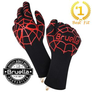 BBQ Gloves - Grill Gloves, Heat Resistant Grill Accessories, A+ Military Grade Kevlar, EN 407 Certified at 932°F