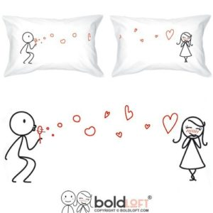 Gift Ideas for Mom - BOLDLOFT From My Heart to Yours Couples Pillowcases