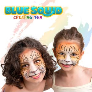 hot new toys for girls - Blue Squid Face Paint 12 Color Palette 30 Stencils, 3 Brushes