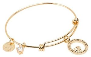 Expandable Charm Bracelet Love the Life You Live, Inspirational Stackable Bangle - Perfect Gift for Her