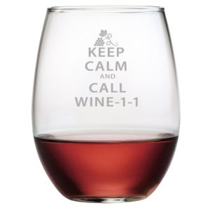 Fineware - Keep Calm Call Wine-1-1 Funny Stemless Wine Glass