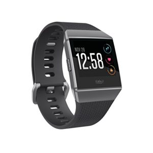 Fitbit Ionic Smartwatch, Charcoal-Smoke Gray One Size S and L Bands Included