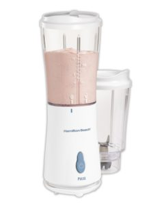 Hamilton Beach Personal Single Serve Blender with 2 Jars and 2 Lids, White (51102)