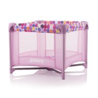 Joovy Toy Room2 Playard, Pink Dot - Playpen for Girls