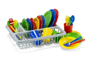 kitchen toys for girls - Kidzlane Durable Kids Play Dishes - Pretend Play Childrens Dish Set - 29 Piece with Drainer