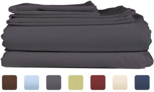 King Size Sheet Set - 6 Piece Set - Hotel Luxury Bed Sheets - Breathable & Cooling Sheets - Gray - Grey Bed Sheets