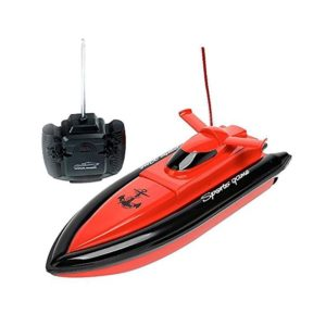 KingPow Remote Control Boat Only Works In Water Rc Boat- Red