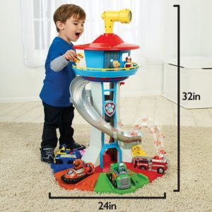 Paw Patrol – My Size Lookout Tower with Exclusive Vehicle, Rotating Periscope and Lights and Sounds - Most Popular Toys for Kids