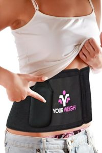 Quality Waist Trainer By Your Weigh – Best Abs Exercise Workout Equipment For Weight Loss, Sized To Fit S-XL With Detachable Pocket