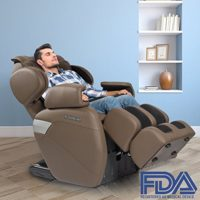 RELAXONCHAIR MK-II Plus [Redesigned] Full Massage Chair with Built Heating and Air Massage System (Chocolate)