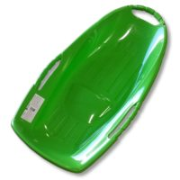 Snow Runner 36in Green Plastic Snow Sled Types with Bottom Grooves