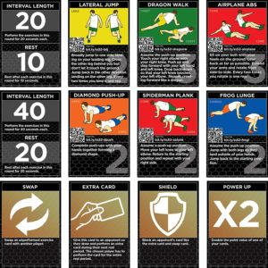 The HIIT Interval Workout Game by Stack 52 Bodyweight Exercises, No Equipment Needed
