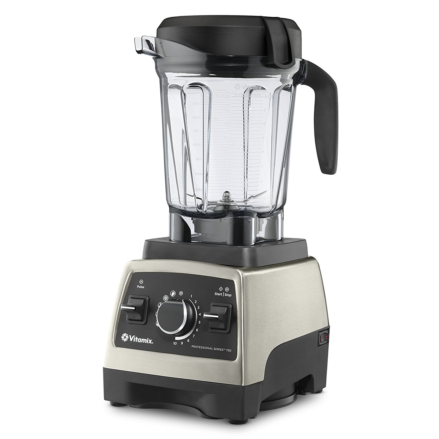 Vitamix Pro Series 750 Brushed Stainless Finish with 64 oz Container and Cookbook Heritage