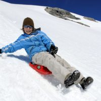 Zipfy Two Tone Series and Freestyle Luge Snow Sled Types for Kids and Adults