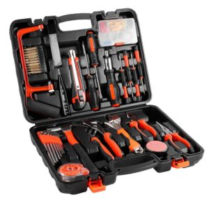 100-Piece Home Tool Kits OUTAD Multi-functional & Universal 100 IN 1 Precision Screwdriver Hammer - Best Gift Ideas for Men