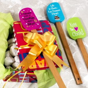 3 Piece Fun Silicone Spatula Gift Set with lovely bow