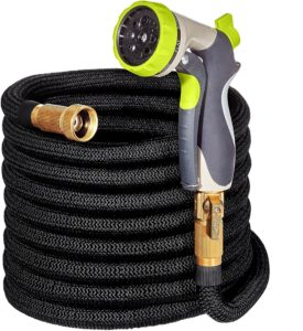 50ft Expandable Garden Hose - IMPROVED Water Hose with Double Latex Core, Flexible Expanding Hose