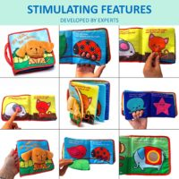 BEST SOFT BOOK Cloth Books, Educational Toys for Baby,Toddler with Peekaboo Flap, Interactive Baby Shower Gifts Boy