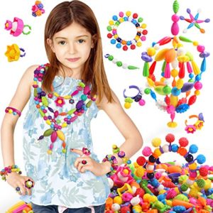 gift ideas for girls - BIBNice Pop Beads Set DIY Jewelry Kit for Girls Necklace and Bracelet(350PCS)