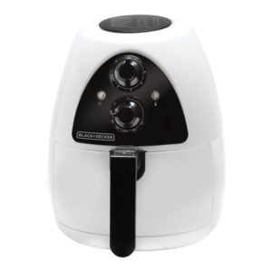 BLACK+DECKER Purify 2-Liter Air Fryer, White-Black, HF100WD