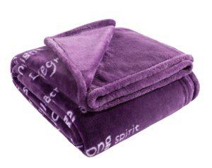 BlankieGram Healing Thoughts Blanket Purple