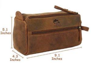 Buffalo Genuine Leather Toiletry Bag Copp Kit - Gift for Men
