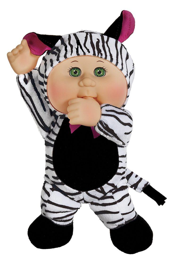 Cabbage Patch Cuties Safari Friends - 9in Tall Keiko Zebra Cutie Doll