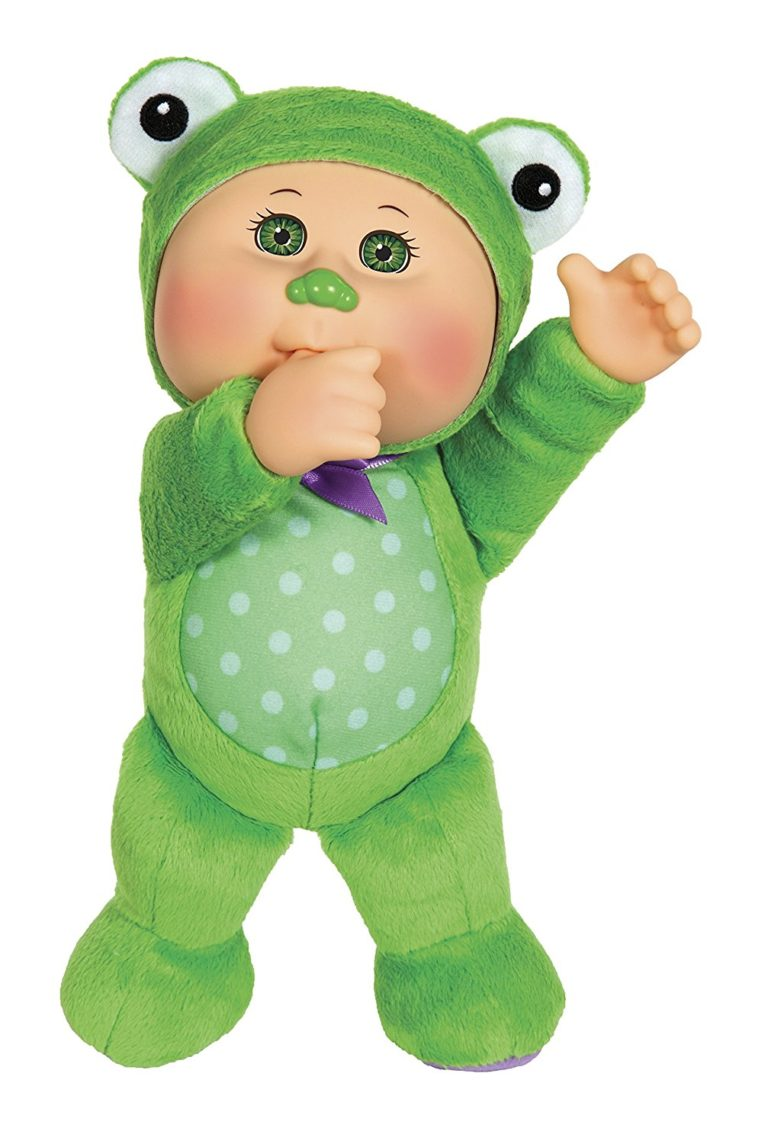 Cabbage Patch Kids Cuties Safari Friends - 9in Tall Chiro Frog Cutie Doll