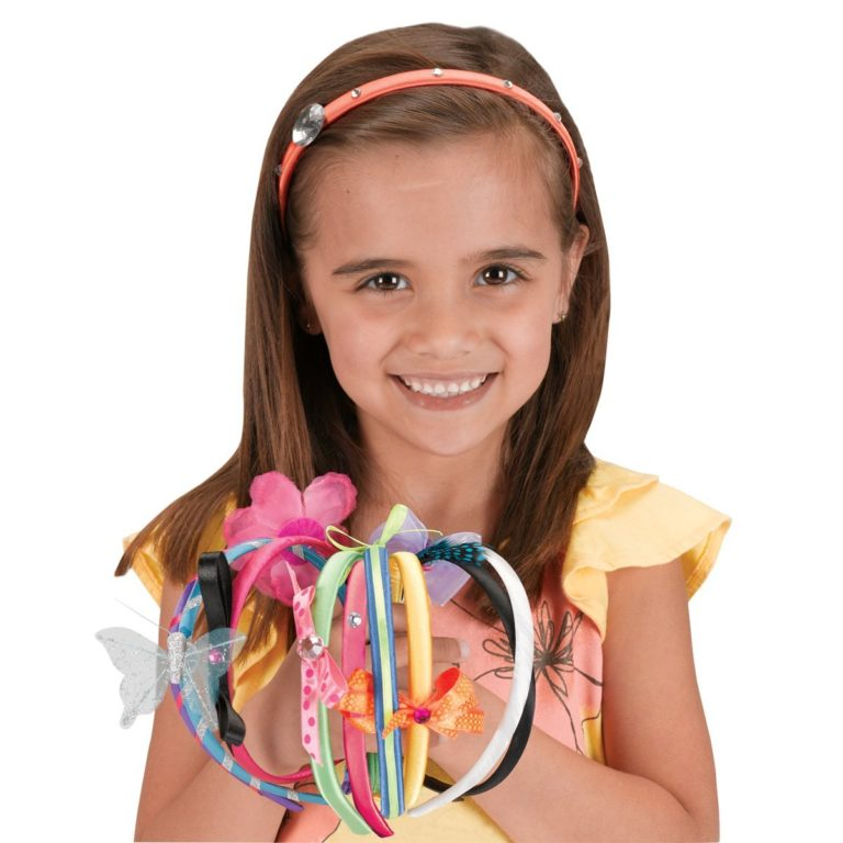 Creativity for Kids Fashion Headbands Craft Kit, Makes 10 Unique Headbands
