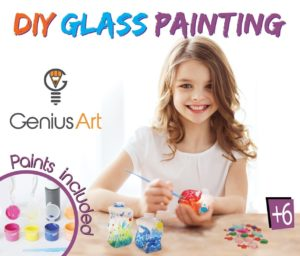 DIY Glass Painting - Arts and Crafts Kit for Kids