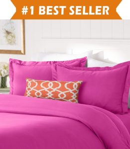 Elegant Comfort #1 Best Bedding Duvet Cover Set! 1500 Thread Count Egyptian Quality Luxurious Silky-Soft WRINKLE FREE 2-Piece Duvet Cover Set, Twin-Twin XL, Hot Pink