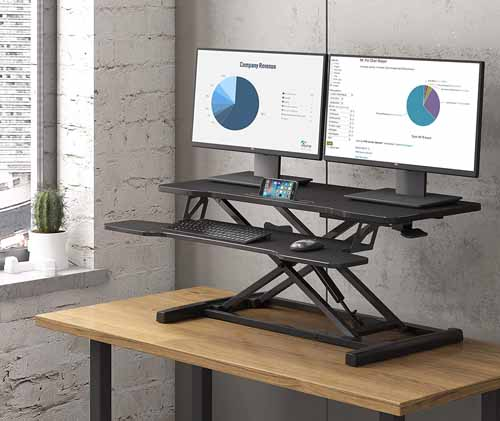 Adjustable Standing Home Office Desk Ideas from FitUEyes