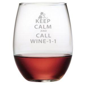 Fineware - Keep Calm Call Wine-1-1 Funny Stemless Wine Glass