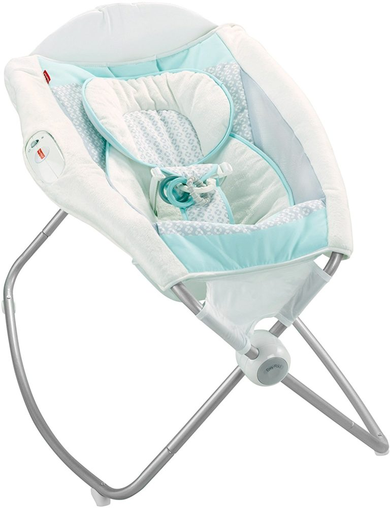 newborn baby gift ideas for girls - Fisher-Price Deluxe Rock 'n Play Sleeper, Moonlight Meadow 3