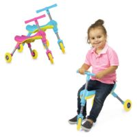 Fly Bike Foldable Indoor-Outdoor Toddlers Glide Tricycle - No Assembly Required