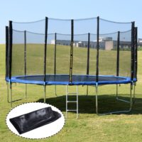 Giantex Trampoline Combo Bounce Jump Safety Enclosure Net W-Spring Pad Ladder - Awesome Outdoor Toys