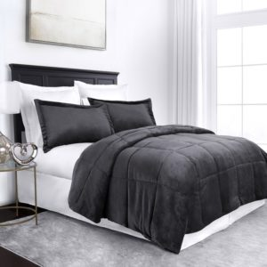 Goose Down Alternative Comforter Set - All Season Hotel Quality Luxury Hypoallergenic Comforter - King-Cal King - Gray - Best Gift Ideas for Men