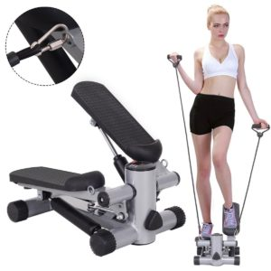 Gifts for fitness lovers - Goplus Step Air Climber Stepper Twister Aerobic Fitness Exercise Machine with Resistance Band