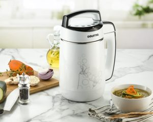 Good Gifts for Mom - Gourmia GSM1150 Automatic Soup Maker - 5 in 1 Hot or Cold Soup Maker Cool Touch, Durable Stainless Steel