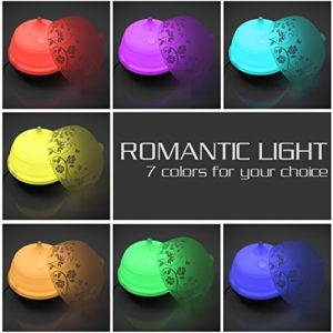 ISELECTOR 500ml Glass Aromatherapy Essential Oil Diffuser with 7 Changing LED Colors and Waterless Auto Shut-off - Wood Grain Base