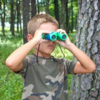 Kidwinz Shock Proof 8x21 Kids Binoculars Set - Bird Watching - Hunting - Hiking - Gifts for Children - Outdoor Play - Toys for Boys a
