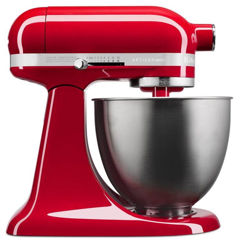KitchenAid KSM3311XER Artisan Mini Series Tilt-Head Stand Mixer, 3.5 quart, Empire Red - Best Gift Ideas for Women