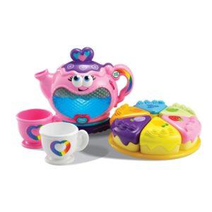kitchen toys for girls - LeapFrog Musical Rainbow Tea Set