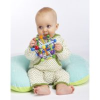 Manhattan Toy Skwish Color Burst Rattle and Teether Grasping Activity Toy Best Toys for 3 mos to 24 mos