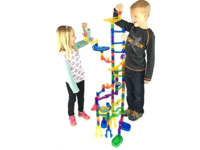 gift ideas for girls - Marble Genius Marble Run Super Set - 85 Translucent Marbulous Pieces + 15 Glass Marbles