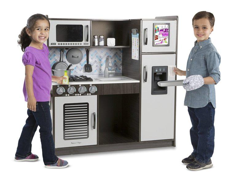 kitchen toys for girls - Melissa & Doug Chef's Kitchen Play Set - Charcoal
