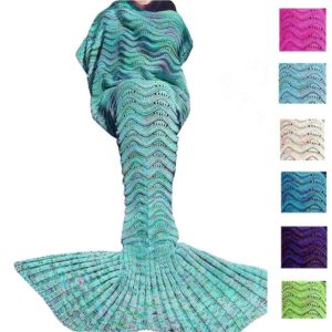 Mermaid Tail Blanket For Adult Kid, Super Soft All Seasons Sofa Blanket, Best Birthday Christmas Gift
