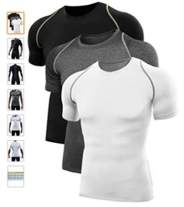 Neleus Men's Quick Dry Sport Compression Athletic Shirt Pack Of 3