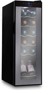 Nutrichef Refrigerator-White & Red Chiller Countertop Cooler a cool gift idea for men.