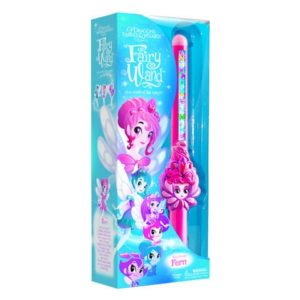 Wizards Fairy Fern Hand Held Wand, Pink